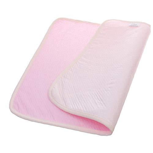tJexePYK Bebé Impermeable del cojín del pañal del bebé Home Cambio de función de Multi Pad para bebés de algodón Absorbente Manta Mat Rosa