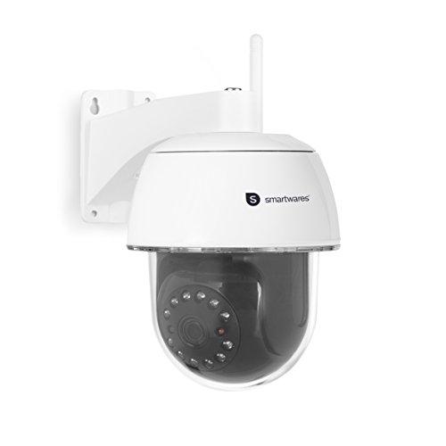 Smartwares C994IP CIP-39940 IP-camera outdoor Full HD PTZ bewakingscamera met bewegingsdetectie en nachtzicht voor buiten, via app bestuurbaar, wit