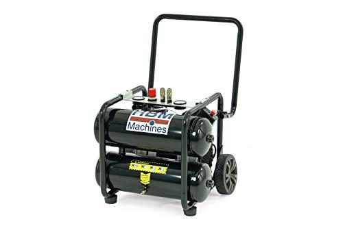 Compresor de aire portátil profesional de 20 L, 1,5 CV, silencioso, 1100 W, 200 l/min, 53-60 dB a 7 m, silencioso, sin aceite