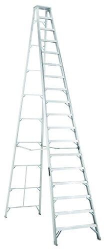 Louisville Ladder Louisville, AS1018, 18' Aluminum 300 Lb. Stepladder, Type Ia