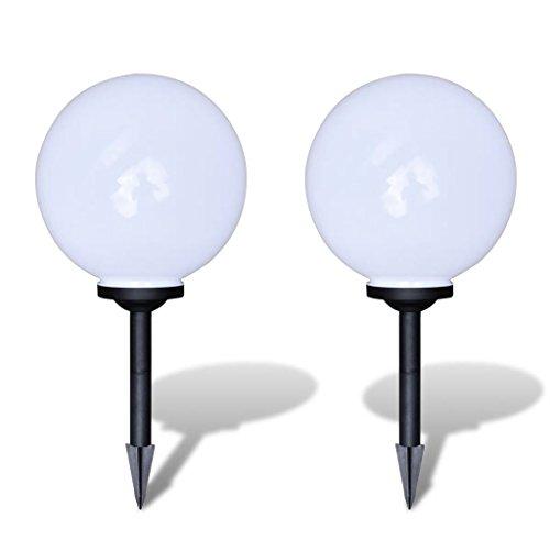 vidaXL Boule Solaire extérieure 30cm 2 pièces