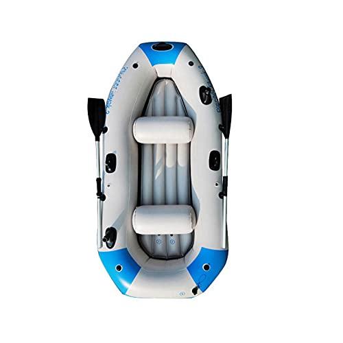HOUADDY Barco de Pesca Inflable para 3 Personas, Kayak Grueso portátil, Chaleco Salvavidas y Accesorios, Deportes acuáticos Divertidos para Adultos y niños.
