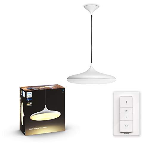 Philips Hue Cher - Lámpara Colgante Inteligente LED blanca con Bluetooth, Luz Blanca de Cálida a Fría, Compatible con Alexa y Google Home