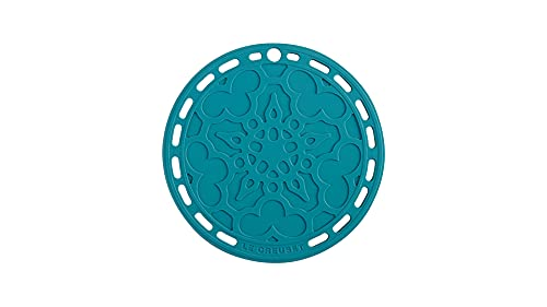 Le Creuset French Trivet, Silicone, Heat resistant to 250°C, Ø 20 cm, Teal