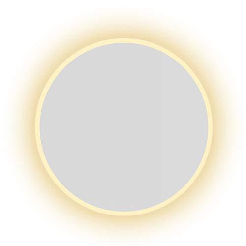 Miroirs Rond Gradation Intelligente Salle De Bains avec Lumière Salle De Bains Coiffeuse Tenture (Color : Silver, Size : 80 * 80 * 3cm)
