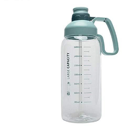 Botella De Agua Portátil De Gran Capacidad Con Escala Taza De Agua De Paja Para Deportes Para Adultos Para Hombres Y Mujeres Taza Al Aire Libre Botella De Agua De Gran Tamaño Para Ejercicios