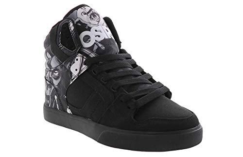 Osiris Mens Clone Black Skate Inspired Sneakers Shoes 10