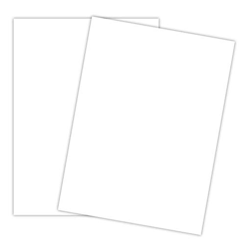 White Cardstock - Thick Paper for School, Arts and Crafts, Invitations, Stationary Printing   65 lb Card Stock   8.5 x 11 inch   Medium Weight Cover Stock (176 gsm) 96 Brightness   50 Sheets Per Pack
