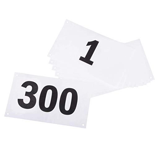 Azarxis Portanumeri da Gara, Porta Pettorale Triathlon Running, Porta Numero 1-500 per Corsa Maratona Ciclismo Nuotata (Numeri 001-300)