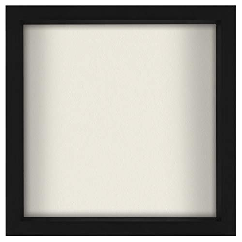 Americanflat 11x11 Shadow Box Frame in Black with Soft Linen Back -...