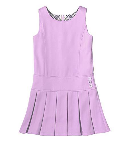 Bienzoe Mädchen Stretchy Schuluniformen Plissee Kleider Helles Lila 8