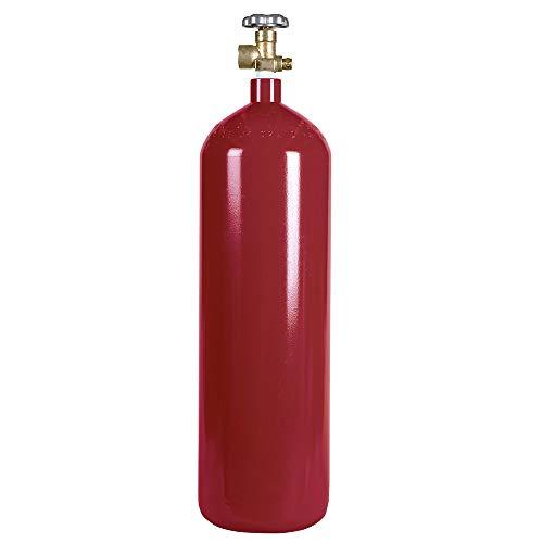 New 60 cu ft Steel Inert Gas Cylinder with CGA580 Valve - Helium, Nitrogen, Argon, CO2/Nitrogen Mix