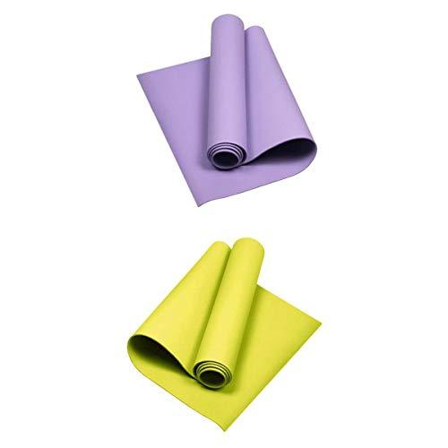 lahomia Alfombrillas de Yoga de 2 X 4 Mm, Antideslizantes Gruesas, Duraderas, para Ejercicio, Fitness, Gimnasio, Esterillas para Pilates
