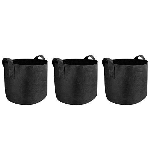 Plant Grow Bags | Pots de croissance aérés à face douce en tissu non tissé respirant | Sacs de jardinière pour légumes, fleurs et pommes de terre de jardin | M&W (10 Gallons)