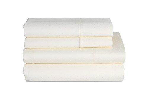 Highland Feather 350 Thread Count Swiss Dots Pillow Case, Standard, Cream