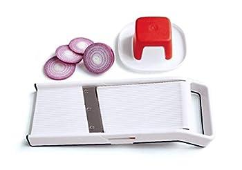 Tupperware Mini Speedy Mando Handheld 9.5  Mandolin Slicer