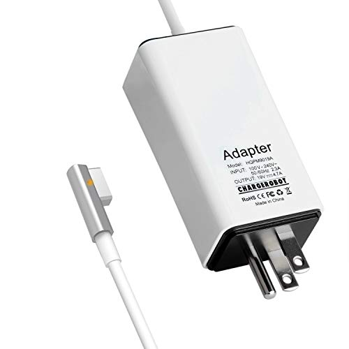 Wakeach 85W Mini Charger for MacBook Pro 15 inch 17 inch (Made Before Mid 2012),85W Magnetic Magsafe 1 Power Adapter L-tip mbp Battery Supply ,Lightweight & Portable Travel Mac Pro Wall Charger