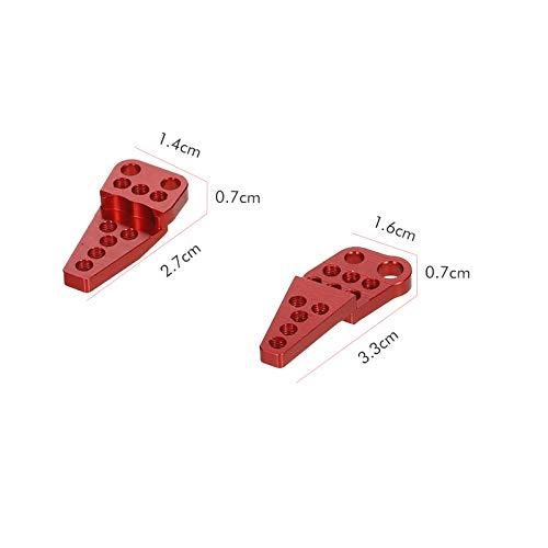 Goolsky Ersatz für Axial SCX10 II 90046 90047 1/10 RC Auto Einstellbare Stoßdämpferhalterung Unterer Stoßdämpfer-Hebesatz