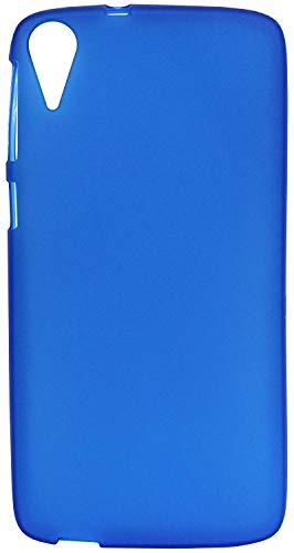 FCS Primium Rubberized Silicon Back Case Cover for HTC Desire 828 Dual Sim in Matte Finish (Blue)