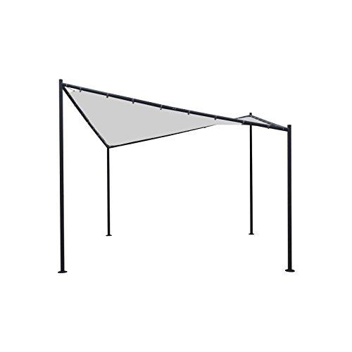 Walmdach Pavillon Orlando 3,5x3,5x2m Partyzelt Pavillion Dach weiss Stahlgestell