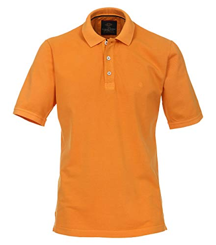 CASAMODA Herren Polo-Shirt Uni Orange L