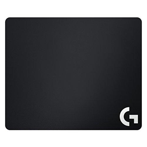 Logitech G640 Tappetino Mouse Gaming Grande in Tessuto, Mouse Pad 460 x 400 mm, Spessore 3 mm, Attrito Moderato, Superficie Uniforme, Base in Gomma Stabile e Confortevole, Arrotolabile, Nero