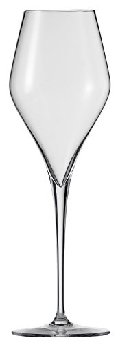 Schott Zwiesel Tritan Crystal Glass Finesse Stemware Collection Champagne Flute with Effervescence Points (Set of 6), 10.0 oz, Clear