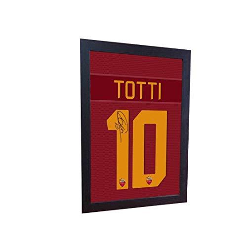 SGH SERVICES New Francesco Totti Roma t shirt firmata stampata su tela 100% cotone Bayern Monno incorniciata maglia autografo calcio incorniciato 100% cotone tela autografo incorniciato