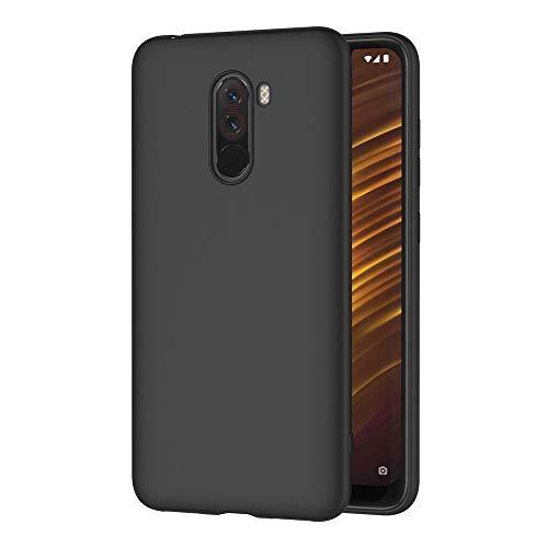 AICEK Cover per Xiaomi Pocophone F1, Cover Xiaomi Pocophone F1 Nero Silicone Case Molle di TPU Sottile Custodia per Xiaomi Pocophone F1 (6,18 Pollici)