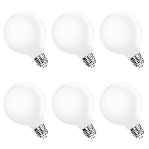 Lampade Lampadine a Edison E27 Globo Grande a LED G95 6W Luce Fredda 5000K Diametro 95MM per Lampada a Sospensione Sostituire Lampada Incandescenza 60W, Lot di 6 di Enuotek