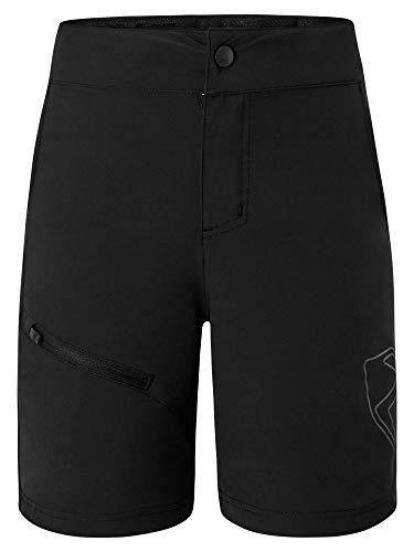Ziener Unisex Kinder Natsu X-Function Fahrrad-Shorts/Rad-Hose mit Innenhose/Mountainbike - atmungsaktiv|schnelltrocknend|gepolstert, Black, 128