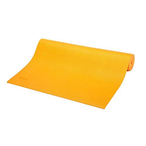 Tapete de Yoga PVC ecológico Asana indicado para iniciantes, ginástica e pilates 183x60cm Bodhi (Açafrão)