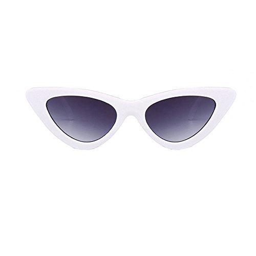 Topgrowth Occhi di Gatto Triangle Occhiali da Sole Donna Vintage Retro Eyewear Integrato UV Caramelle Colorate Bicchieri (G)