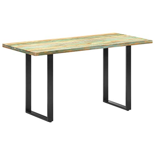 Dining Table, Coffee Table Kitchen Table Bistro Table Dining Table 140x70x76 cm Solid Reclaimed Wood