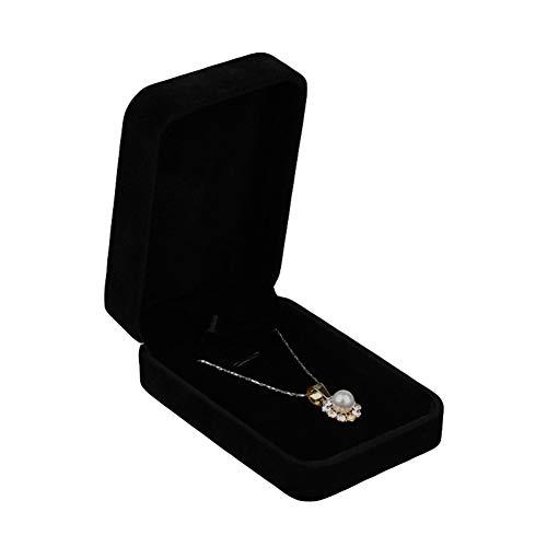 Kalaokei Caja de embalaje de joyería de terciopelo caja de presentación de joyería anillo collar pulsera caja de almacenamiento caja de regalo rosa grande colgante caja #