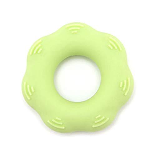 Nsdsb Dispositivo De Rehabilitación De Dedos con Pinza De Silicona Ejercitador De Anillo De Agarre De Masaje 30 Libras Verde Claro