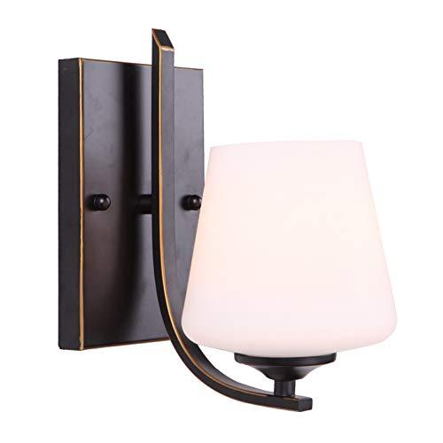 HENGXIAO-wall lamp Style Américain Lampe Murale Lampe Mur- Art De Fer Style Européen Créatif Chambre À Coucher Lit Tête Lumière Salon Luminaire [Classe Énergétique A ++]