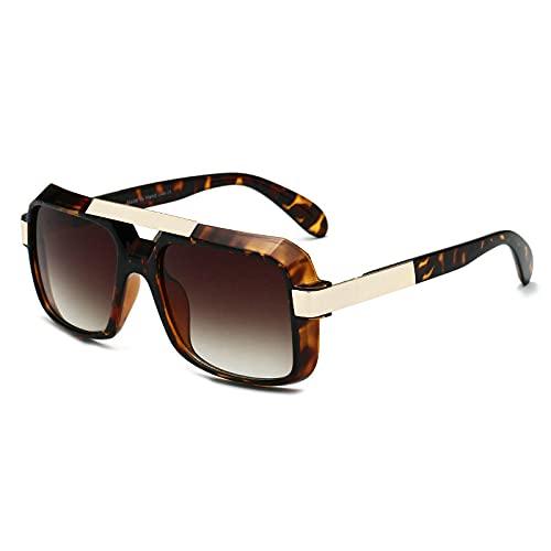 Gafas de sol para mujer, de gran tamaño, cuadradas, de conducción, para mujer, de diseño transparente, gafas de sol de leopardo
