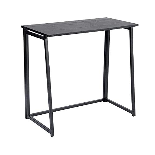 Homycasa, scrivania per computer portatile, postazione di lavoro moderna, pieghevole, scrivania scandinava per casa, ufficio, colore: nero