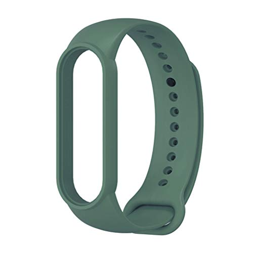 ZChun Uhrenarmband, Silikon, verstellbar, Ersatz-Armband für Xiao Mi Band 5 Sportarmband, Smart-Zubehör grün