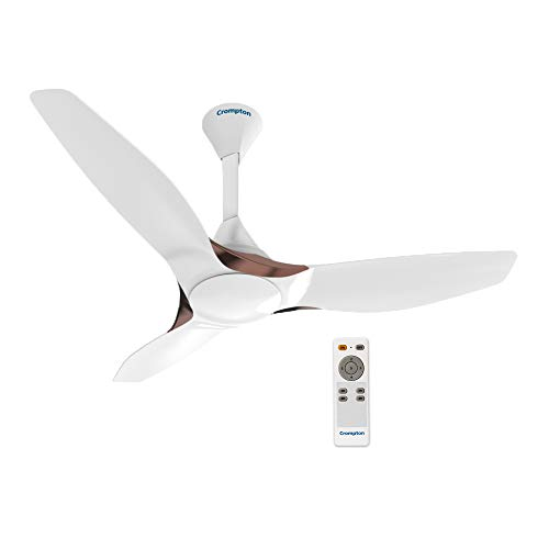 Crompton Silent Pro Enso 1225 Mm Activ Bldc Ceiling Fan With Remote (Silk White)
