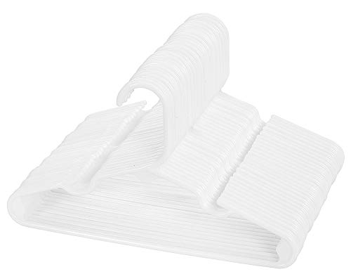 Oakias Kids Hangers Plastic 30 Pack White – Baby Hangers Slim Style – Non-Slip Space-Saving Childrens Hangers