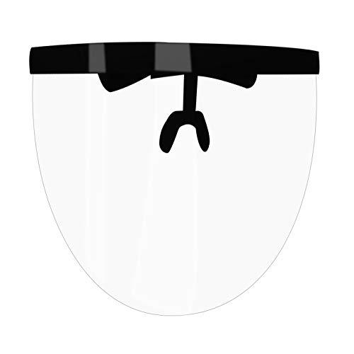 ZSDD Gafas de Seguridad Unisex Eye Shield Visor Wrap Shield Gran Espejo Gafas de Sol Media Face Shield Guard Protector Mascarilla Gafas