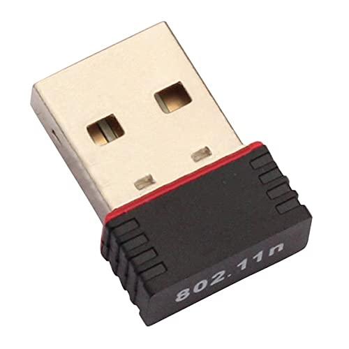 Mini Tarjeta de Red, Adaptador WiFi para Mini PC, Antena WiFi USB, Tarjeta de Red inalámbrica para computadora, Mini Receptor de Tarjeta de Red inalámbrica para computadora, Banda Dual (Negro)