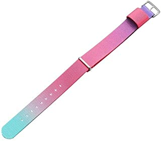 Simple Fashion Watches Band Gold Buckle Nylon Watch Strap, Width: 20mm