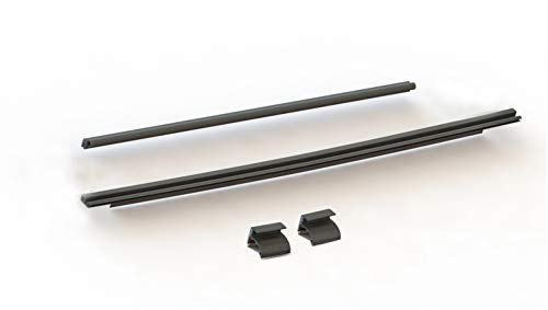 Rampage Products 87135 Tailgate Tonneau Bar Kit with Retainer Clips for 2007-2018 Jeep Wrangler JK, Black