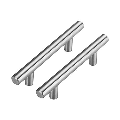 20Pack 3in Cabinet Handles Brushed Nickel Cabinet Pulls - homdiy HD201SN Stainless Steel Kitchen Drawer Pulls Cabinet Hardware 5in Length, 3in Hole Center