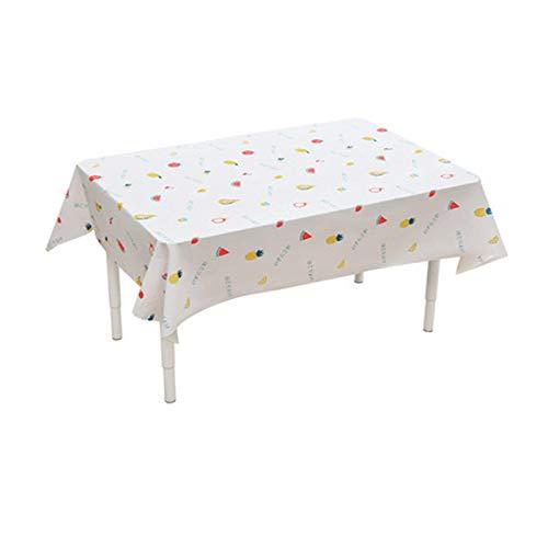 ZTING Mantel rectangular lavable, mantel de mesa para el hogar, paño de tetera, impermeable, protector de mesa para cocina, picnic al aire libre, interior (fruta, 90 x 137 cm)