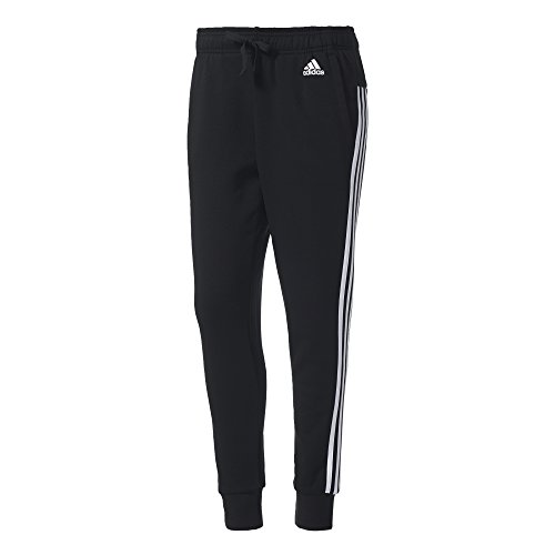 adidas Damen Essentials 3 Streifen Tapered Hose, schwarz (Black/White), M