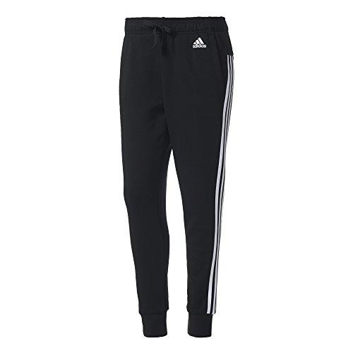 adidas Damen Essentials 3 Streifen Tapered Hose, schwarz (Black/White), S